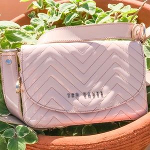 Ted Baker pink wallet expansion crossbody purse